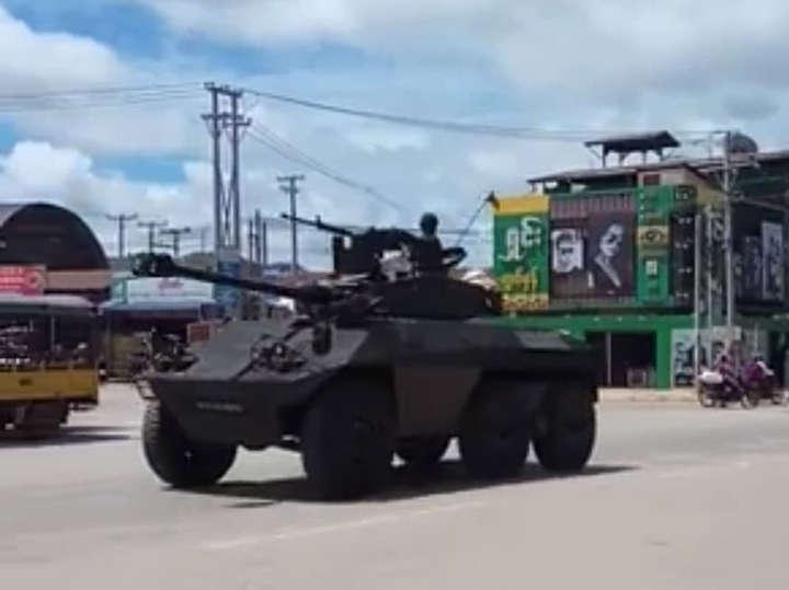 မြန်မာစစ်တပ် တပ်မ(၂)ခုမှ စစ်သားများ ရှမ်းမြောက်သို့ တက်လာ