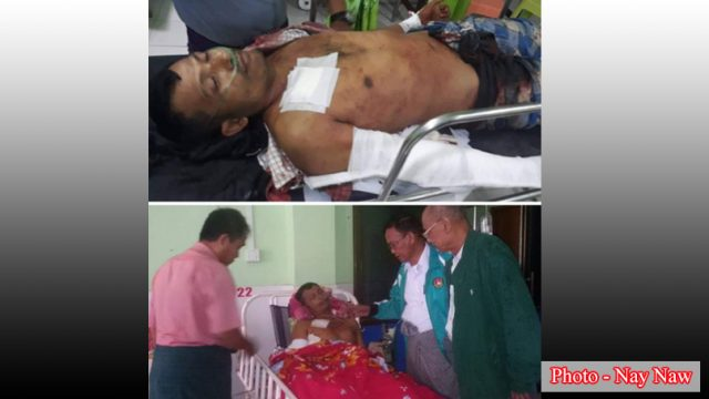 လျှပ်စစ်မီးကိစ္စကြောင့် KNU/KNLA (PC)တပ်ဖွဲ့ဝင်က ကျေးရွာအုပ်ချုပ်ရေးမှူးအား သေနတ်ဖြင့်ပစ်ခတ်သဖြင့် ဆေးရုံတင်ထားရ